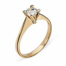 Золотое кольцо с бриллиантом Жизель