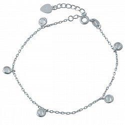 Серебряный браслет с кристаллами циркония 000118617
