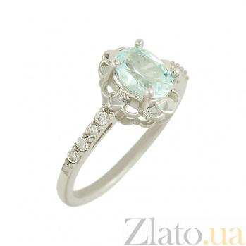 Серебряное кольцо с топазом и фианитами Ирени 3К688-0054