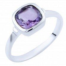 Серебряное кольцо Забава с аметистом