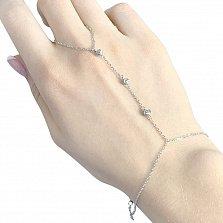 Серебряный браслет-слейв Гаянэ в стиле минимализм