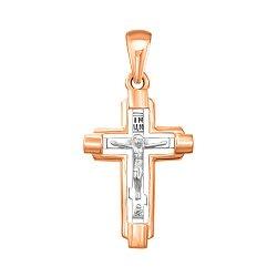 Золотой крестик в комбинированном цвете 000137602
