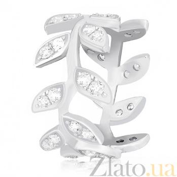 Серебряное кольцо Апрель с фианитами 000030916