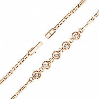 Браслет з червоного золота з діамантами 000137557