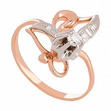 Кольцо из комбинированного золота с бриллиантами Бенедикта