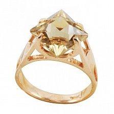 Золотое кольцо Величие принцессы с раухтопазом