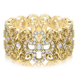 Кольцо из желтого золота с бриллиантами Долина грез: Праздник Жизни 000010853