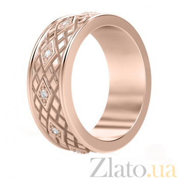 Обручальное кольцо из розового золота с бриллиантами Благословение небес: Сияние души 707