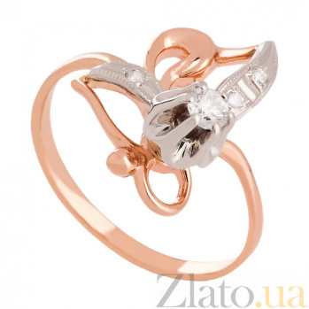 Кольцо из комбинированного золота с бриллиантами Бенедикта VLN--122-250