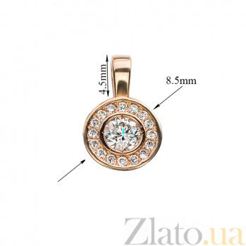 Золотой подвес с бриллиантами Доминика P0612/A03В02F02C01H02D02K02