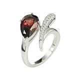 Золотое кольцо с родолитом и бриллиантами Жизнерадостность