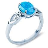 Серебряное кольцо с опалом и цирконием Беатриче