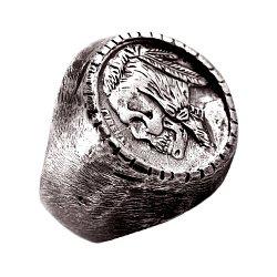 Кольцо из серебра Buffalo с чернением 000091393