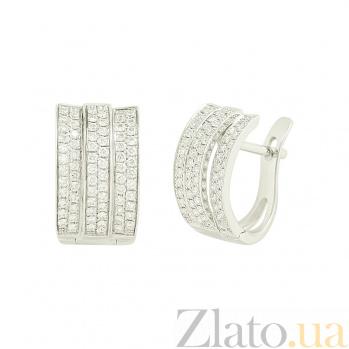 Золотые серьги с бриллиантами Варвара 1С036-0129