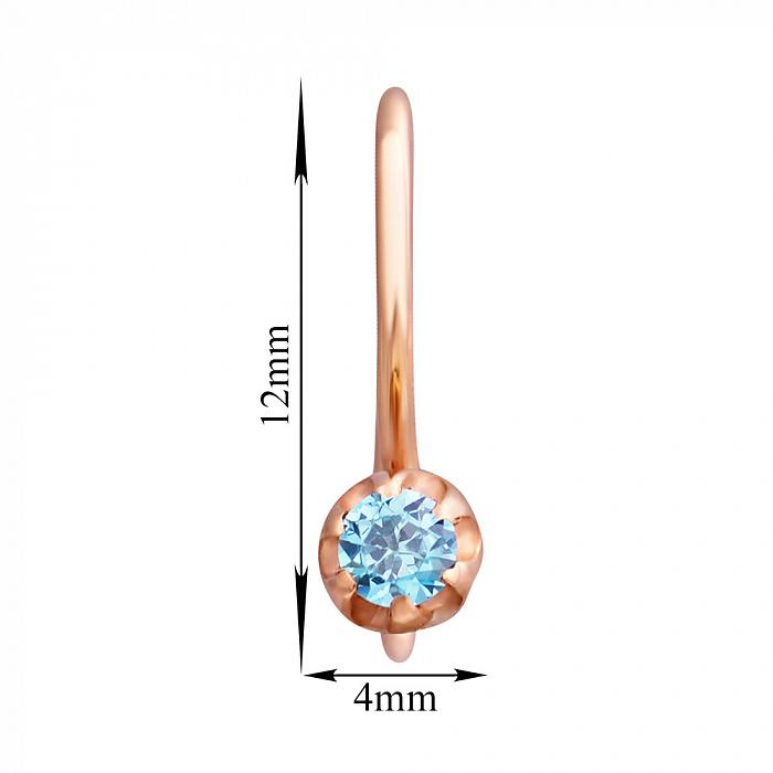 Серьги из красного золота с голубыми фианитами 000002999 EDM--С0336Г