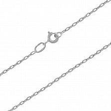 Серебряная цепочка родированная Якорная, 1,5мм