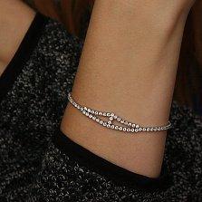 Серебряный браслет Алантея с кристаллами циркония