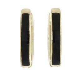 Золотые серьги с эмалью 000040356