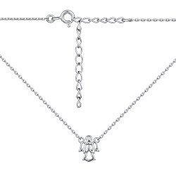 Серебряное колье с подвеской-Ангелом 000140371