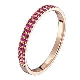 Золотое кольцо Легкий путь с рубинами