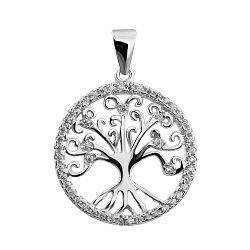 Серебряная подвеска Древо жизни с фианитами 000132514