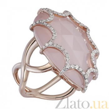 Золотое кольцо с халцедоном и бриллиантами Айседора KBL--К5002/крас/халц