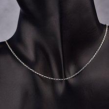 Серебряная цепочка Даллас якорного плетения, 1мм