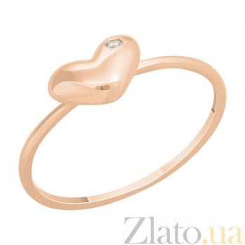Кольцо в красном золоте Милое украшение с фианитом SVA--1101134101/Фианит/Цирконий