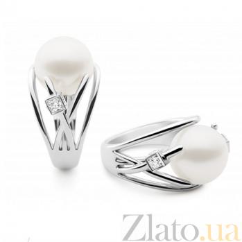 Кольцо Argile-A с бриллиантом и жемчугом E-cjP-W-1d