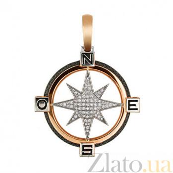 Подвеска Путеводная Звезда из красного золота VLT--Т3312-2