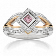 Кольцо Argile из белого и розового золота с розовыми сапфирами и бриллиантами