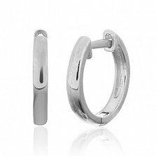Серебряные серьги-кольца Дайан