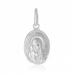 Серебряная ладанка Божья матерь с младенцем