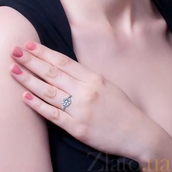 Серебряное кольцо Восторг с цирконом AQA--1368