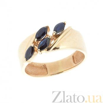 Золотое кольцо в красном цвете с сапфирами Божена ZMX--RS-6533_K