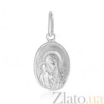Серебряная ладанка Божья матерь с младенцем 000025374