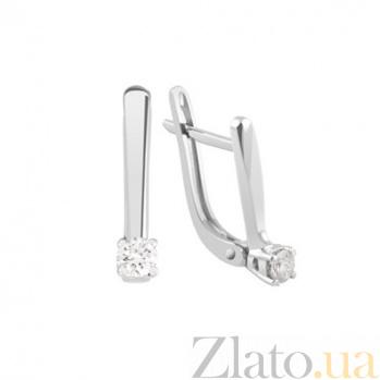 Золотые серьги с бриллиантами Ирена KBL--С2411/бел/брил