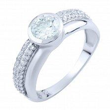 Серебряное кольцо Меланья с фианитами