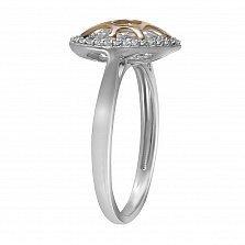 Золотое кольцо Глубины сердца с бриллиантами