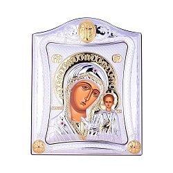 Посеребренная икона Богородица Казанская на подставке 000131794