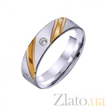 Золотое обручальное кольцо Сказка наяву с фианитом TRF--422250
