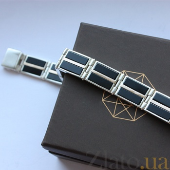 Серебряный браслет с ониксом Джонас BGS--608/12Б