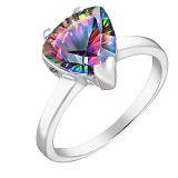 Серебряное кольцо Верди с мистик топазом