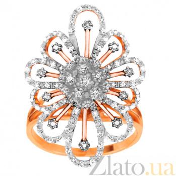 Кольцо из красного золота с цирконием Снежинка VLT--ТТ1031-2