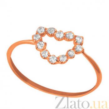 Золотое кольцо Романс с фианитами VLT--НН1096