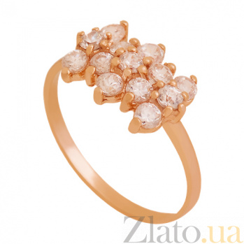 Золотое кольцо с цирконием Ежевика 000029431