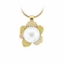 Золотое колье с жемчугом, цитринами и бриллиантами Впечатления ночи