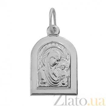 Серебряная ладанка Божья Матерь Казанская TNG--100230С