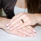 Золотое обручальное кольцо Трискель