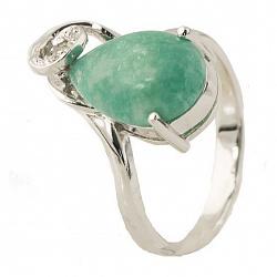 Серебряное кольцо Инесс с бирюзой и фианитами